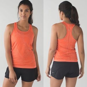 lululemon Swiftly Tech Racerback Heathered Orange
